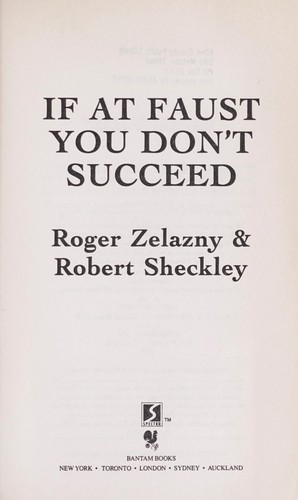 If at Faust You Don't Succeed by Roger Zelazny, Robert Sheckley