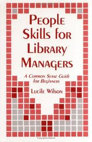 Cover of: People skills for library managers