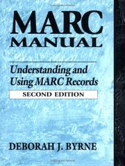 Cover of: MARC manual