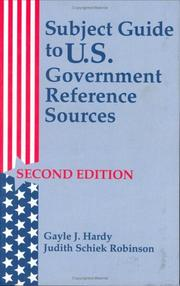 Cover of: Subject guide to U.S. government reference sources