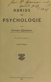 Cover of: Abriss der psychologie