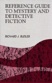Cover of: Reference guide to mystery and detective fiction | Richard Bleiler