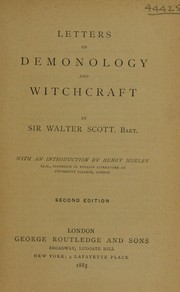 Cover of: Letters on demonology and witchcraft | Walter Scott