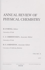Cover of: Physical Chemistry | Annual Review