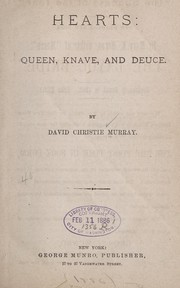 Cover of: Hearts: queen, knave, and deuce | David Christie Murray