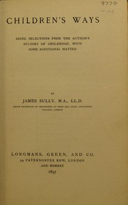 Cover of: Children's ways