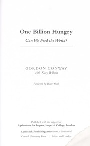 Cover of: One billion hungry | Gordon Conway