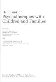 Cover of: Handbook of psychotherapies with children and families |