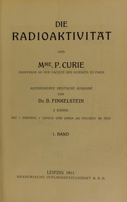 Cover of: Die Radioaktivit©Þt