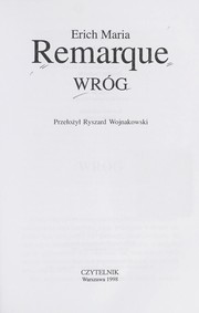 Cover of: Wro g