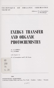 Cover of: Energy transfer and organic photochemistry |