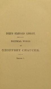 Cover of: Poetical works of Geoffrey Chaucer