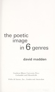 Cover of: The poetic image in 6 genres