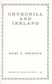 Cover of: Churchill and Ireland