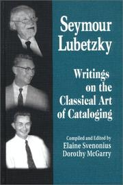 Cover of: Seymour Lubetzky | Seymour Lubetzky