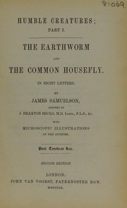 Cover of: The earthworm and the common housefly