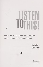 Cover of: Listen to this! | Alan Reder