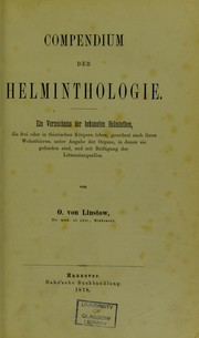 Cover of: Compendium der Helminthologie