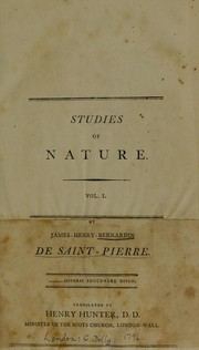 Cover of: Studies of nature