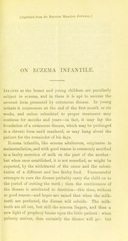 Cover of: On eczema infantile | Wilson, Erasmus Sir