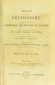 Cover of: Essays on physiognomy