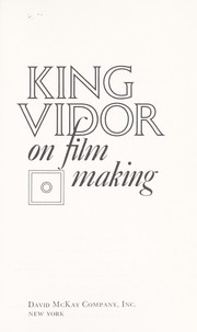 Cover of: King Vidor on film making