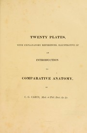 Cover of: An introduction to the comparative anatomy of animals; comp. with constant reference to physiology, and elucidated by twenty copper-plates
