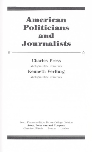 American politicians and journalists by Charles Press