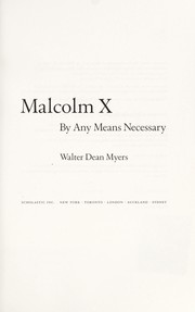 Cover of: Malcolm X | Walter Dean Myers