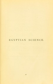 Cover of: Egyptian science from the monuments and ancient books