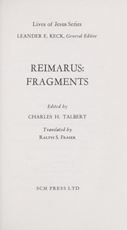 Cover of: Fragments