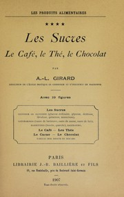 Cover of: Les sucres