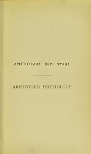 Cover of: Aristotle's psychology