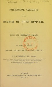 Cover of: Pathological catalogue of the museum of Guy