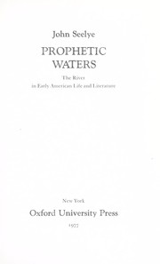 Cover of: Prophetic waters