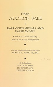Cover of: 139th auction sale of rare coins, medals, and paper money | M. H. Bolender