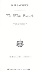 Cover of: The white peacock | D. H. Lawrence