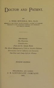 Cover of: Doctor and patient. | S. Weir Mitchell