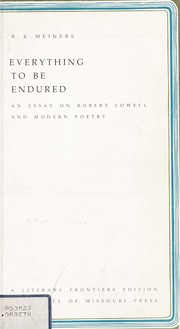 Cover of: Everything to be endured