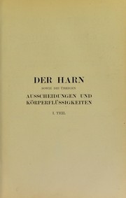 Cover of: Der Harn