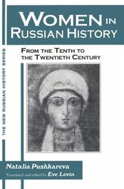 Cover of: Women in Russian history