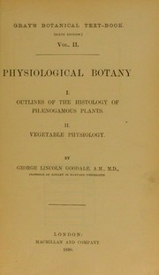 Cover of: Physiological botany