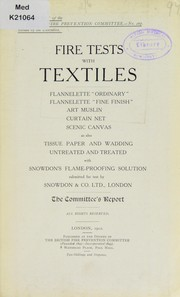 Cover of: Fire tests with textiles | British Fire Prevention Committee