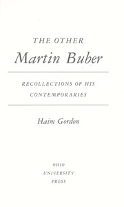 Cover of: The other Martin Buber