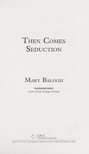 Cover of: Then comes seduction | Mary Balogh