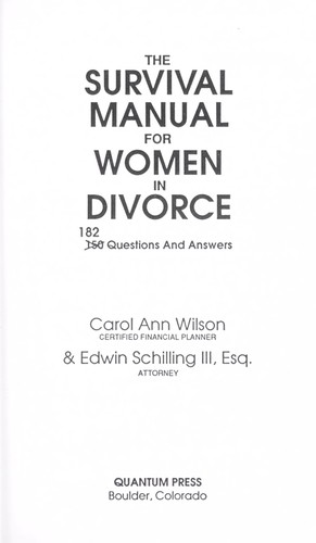 Survival Manual for Women in by Wilson