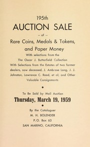Cover of: 195th auction sale of rare coins, medals & tokens, and paper money | M. H. Bolender