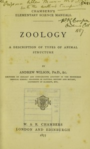 Cover of: Zoology