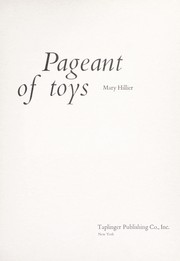Cover of: Pageant of toys