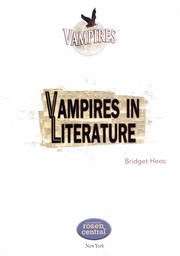 Cover of: Vampires in literature